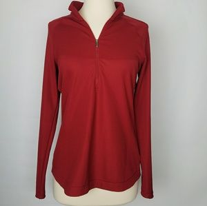 Nike Golf women's dri-Fit pullover red 1/2 zip S